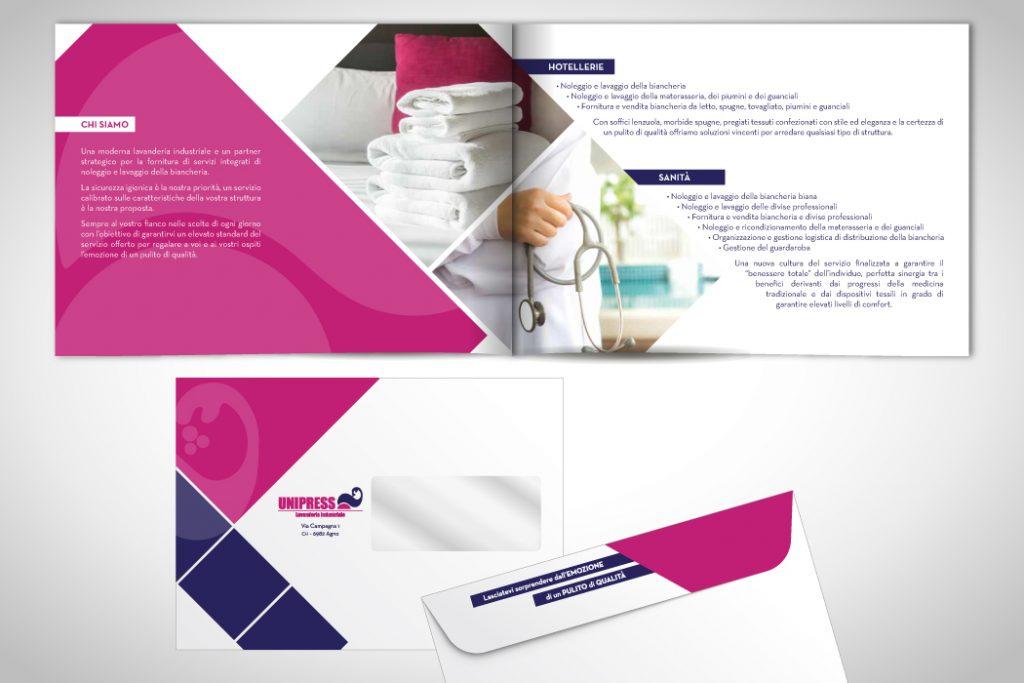 Brochure e buste personalizzate - Unipress